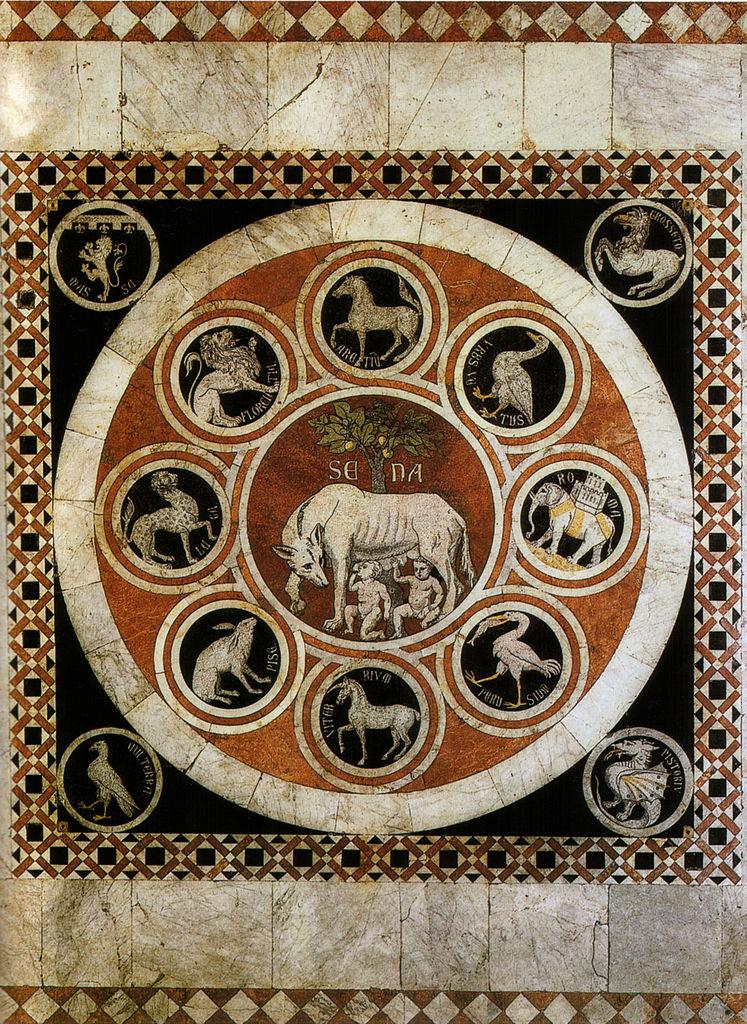 File Pavimento Di Siena Lupa Senese Tra I Simboli Delle
