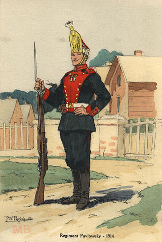 Pavlovsky Regiment - Grenadier of the Pavlovsky Regiment in 1914