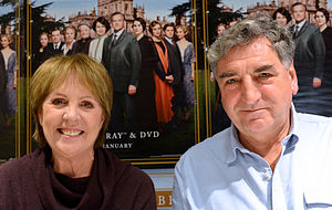 Penelope Wilton - Wilton with Downton Abbey co-star Jim Carter, 2013