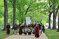 People's Climate March 2017 in Washington DC 09 - Members of the Earth Holder Sangha practice mindful walking on sidewalk near Capitol Hill's Senate Park.jpg