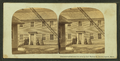 People standing in front of their house, Chain Bridge toll house at left, from Robert N. Dennis collection of stereoscopic views.png