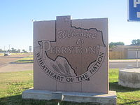 Perryton, TX, welcome sign IMG 6047