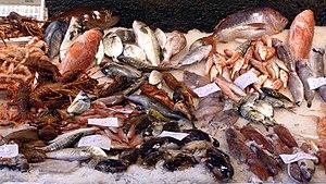 Protein (nutrient) - Image: Pesce al mercato 1