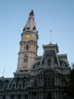 Phila City Hall Twilight