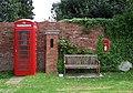 Phone and post boxes at Chesterton, Shropshire - geograph.org.uk - 1302733.jpg