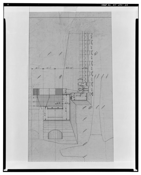 File:Photographic copy of ink on linen drawing (at the archives of Niagara Mohawk Power Corporation, 300 Eric Boulevard West, Syracuse, New York 13202), Strand, Draftsman, July 3, HAER NY,57-GLEFA,1-24.tif
