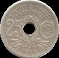 PièceFrançaise25Centimes1914-Revers.png