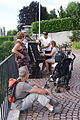 Piano in the grounds of Auberge du Lion d'Or, Cologny, Geneva, Switzerland - 20140614.JPG