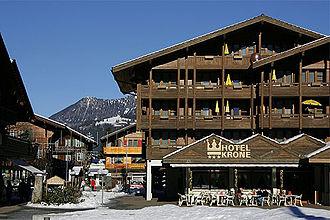 Lenk im Simmental - Hotel Krone and Kronenplatz in Lenk