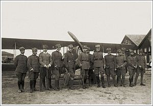 Pilots Italian 91st Fighter Squadron World War I.jpg