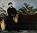 Pirosmani. ''Sarkis Pouring Wine''. Oil on oil-cloth, 92x101 cm. The State Museum of Fine Arts of Georgia, Tbilisi.jpg