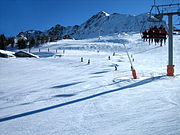Pistes above the Peisey-Vallandry woods