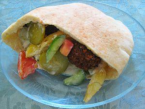 Falafel - Falafel sandwich