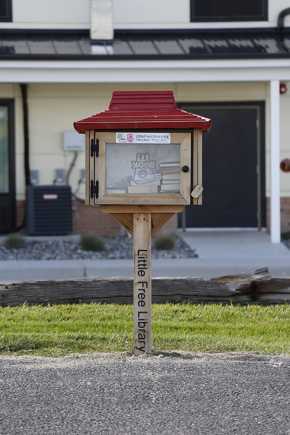 Pizza Hut themed Little Free Library in Gillette, Wyoming
