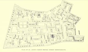 St Anne Within the Liberty of Westminster - Plan of the parish of St Anne