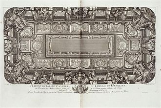 Charles Louis Simonneau - Ceiling of the Escalier des Ambassadeurs in Versailles, 1720