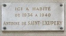 Antoine de saint exup ry wikip dia for O jardin gourmand avenue des etats unis toulouse