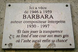 Photo of Barbara marble plaque
