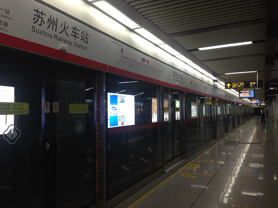 Platform of Suzhou Railway Station