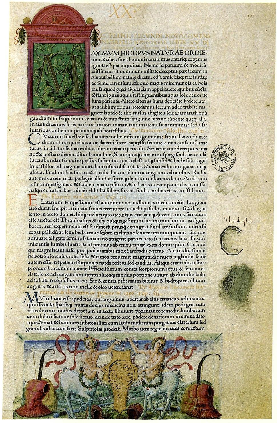 Plinius, Naturalis historia, incunable, 1469