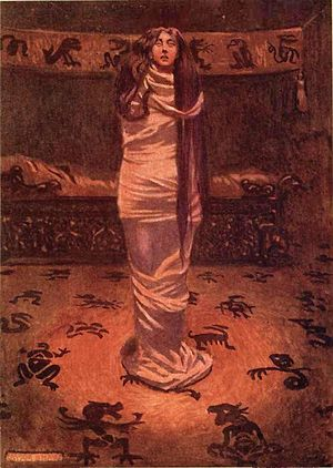 Ligeia - Illustration by Byam Shaw, circa 1909