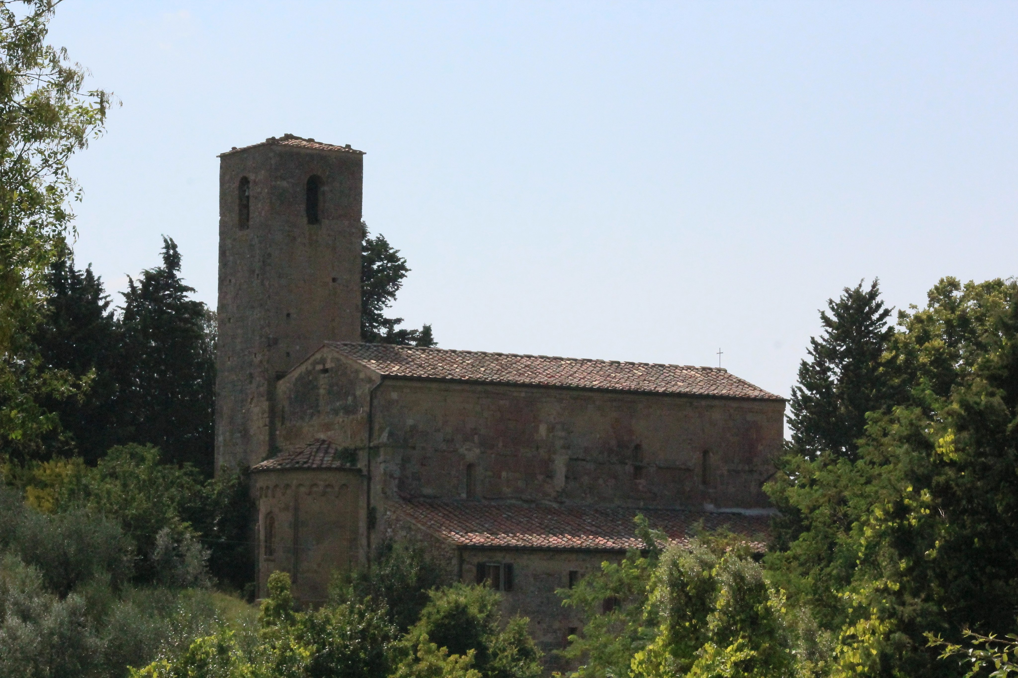 Church San Pietro a Cedda in the outskirts of Poggibonsi, Province of Siena
