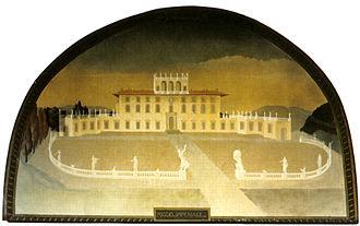 Villa del Poggio Imperiale - Villa del Poggio Imperiale in the early 18th century