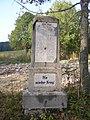 Pohoří na Šumavě, pomník Nie wieder Krieg, detail.jpg