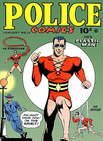 Plastic Man - Image: Police Comic No 15