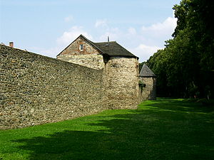 Polička - Part of the town walls.