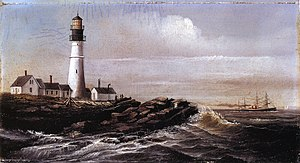 Casco Bay - Portland Head Light, Maine, William Aiken Walker