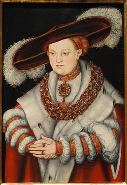 Portrait of Magdalena of Saxony, Wife of Elector Joachim II of Brandenburg, c. 1529, by Lucas Cranach the Elder - Art Institute of Chicago - DSC00095.JPG