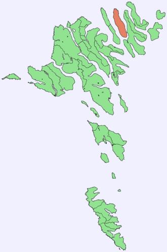 Kunoy - Image: Position of Kunoy on Faroe map