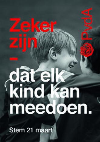2018 Dutch municipal elections - PvdA campaign poster