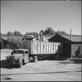 Poston, Arizona. One of the many block mess halls used as a storehouse for evacuee property when it . . . - NARA - 539859.tif