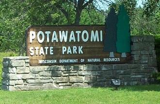 Potawatomi State Park - Sign
