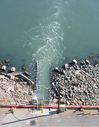 Potrero Generating Station - Return flow of heated water to San Francisco Bay from the Potrero Generating Station