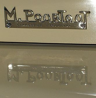 Carrosserie Pourtout - Pourtout nameplate on a 1927 Georges Irat Model A