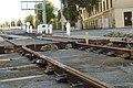 Praha, Dejvice, rekonstrukce TT, kolejnice.jpg