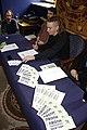 Praha, Nové Město, Tisková konference ČPS k OSA, propagační materiály.jpg