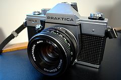 Praktica MTL 3 SLR camera with Pentacon 50mm f1.8 auto multi coating lens.jpg