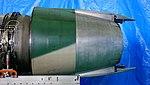 Pratt & Whitney JT8D-9 turbofan engine thrust reverser left side view at JASDF Iruma Air Base November 3, 2014.jpg