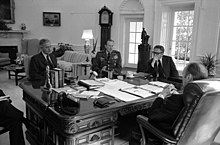 President Ford meets with Kissinger, Weyand, and Martin - NARA - 186794.jpg