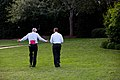 President Obama and Chief of Staff Denis McDonough often turns into a walk on the South Grounds of the White House.jpg