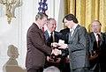 President Ronald Reagan presents the 1985 National Technology Awards to Steven Jobs.jpg