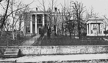 Polk Place, briefly James Polk's home and long that of his widow Presidents James K Polk Nashville home.jpg