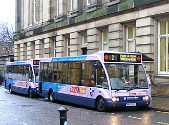 Park and ride bus services in the United Kingdom - Park and ride Optare Solos in Preston