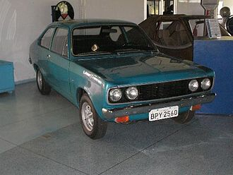 Brazilian military government - A Dodge 1800 was the first prototype engineered with a neat ethanol-only engine. Exhibit at the Memorial Aeroespacial Brasileiro, CTA, São José dos Campos.