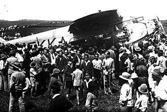 CLASSA - The historic first commercial flight between Peninsular Spain and the Canary Islands by a CLASSA Ford 4 AT trimotor in May 20, 1930