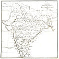 Principal roads and divisions of Hindoostan Rennell 1788.jpg